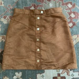 Suede inspired skirt. NWOT